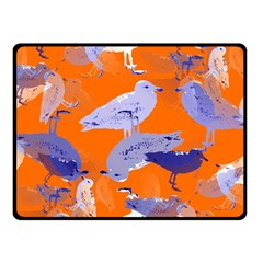 Seagull Gulls Coastal Bird Bird Fleece Blanket (small)
