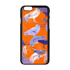 Seagull Gulls Coastal Bird Bird Apple Iphone 6/6s Black Enamel Case