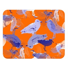 Seagull Gulls Coastal Bird Bird Double Sided Flano Blanket (large)  by Nexatart
