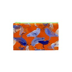 Seagull Gulls Coastal Bird Bird Cosmetic Bag (xs) by Nexatart