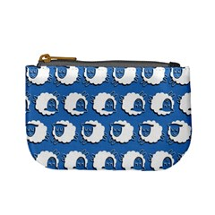 Sheep Pattern Wallpaper Vector Mini Coin Purses