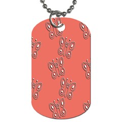 Butterfly Pink Pattern Wallpaper Dog Tag (one Side)