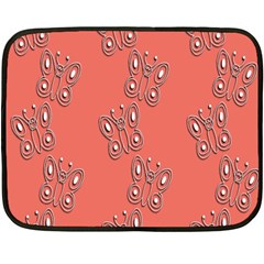 Butterfly Pink Pattern Wallpaper Fleece Blanket (mini)