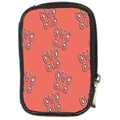 Butterfly Pink Pattern Wallpaper Compact Camera Cases