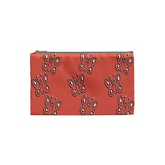 Butterfly Pink Pattern Wallpaper Cosmetic Bag (small)  by Nexatart