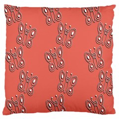 Butterfly Pink Pattern Wallpaper Large Cushion Case (one Side)