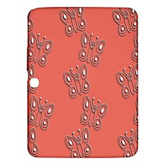 Butterfly Pink Pattern Wallpaper Samsung Galaxy Tab 3 (10 1 ) P5200 Hardshell Case