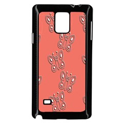 Butterfly Pink Pattern Wallpaper Samsung Galaxy Note 4 Case (black)