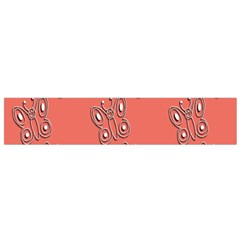 Butterfly Pink Pattern Wallpaper Flano Scarf (small) by Nexatart