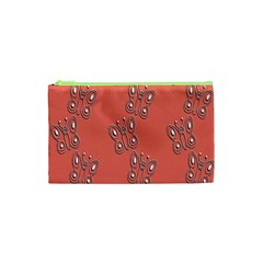 Butterfly Pink Pattern Wallpaper Cosmetic Bag (xs)