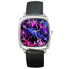 Modern Abstract 46b Square Metal Watch by MoreColorsinLife