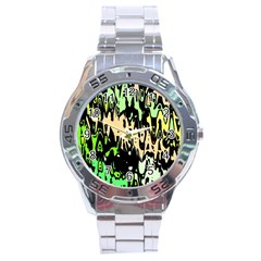 Modern Abstract 46c Stainless Steel Analogue Watch by MoreColorsinLife