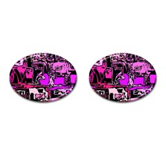 Modern Abstract 47b Cufflinks (oval) by MoreColorsinLife