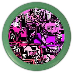 Modern Abstract 47b Color Wall Clocks by MoreColorsinLife