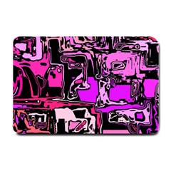 Modern Abstract 47b Small Doormat  by MoreColorsinLife