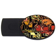 Modern Abstract 47c Usb Flash Drive Oval (4 Gb) by MoreColorsinLife