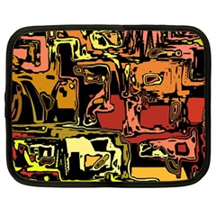 Modern Abstract 47c Netbook Case (large) by MoreColorsinLife