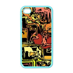 Modern Abstract 47c Apple Iphone 4 Case (color) by MoreColorsinLife