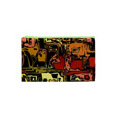 Modern Abstract 47c Cosmetic Bag (xs) by MoreColorsinLife