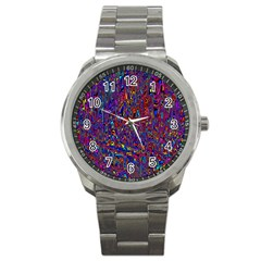 Modern Abstract 45a Sport Metal Watch by MoreColorsinLife
