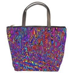Modern Abstract 45a Bucket Bags by MoreColorsinLife