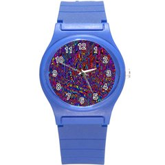 Modern Abstract 45a Round Plastic Sport Watch (s) by MoreColorsinLife