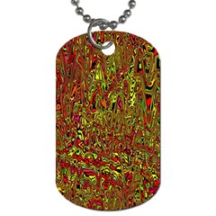 Modern Abstract 45c Dog Tag (two Sides) by MoreColorsinLife