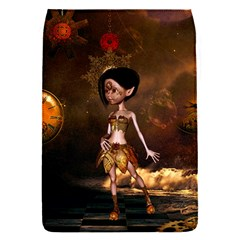 Steampunk, Cute Little Steampunk Girl In The Night With Clocks Flap Covers (s)  by FantasyWorld7