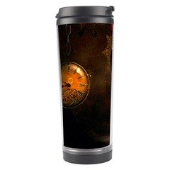 Steampunk, Cute Little Steampunk Girl In The Night With Clocks Travel Tumbler by FantasyWorld7
