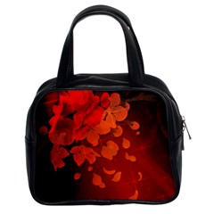Cherry Blossom, Red Colors Classic Handbags (2 Sides) by FantasyWorld7