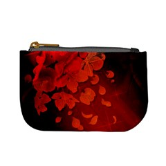 Cherry Blossom, Red Colors Mini Coin Purses by FantasyWorld7