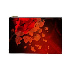 Cherry Blossom, Red Colors Cosmetic Bag (large)  by FantasyWorld7