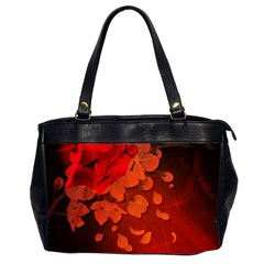 Cherry Blossom, Red Colors Office Handbags (2 Sides)  by FantasyWorld7