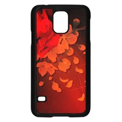 Cherry Blossom, Red Colors Samsung Galaxy S5 Case (black) by FantasyWorld7