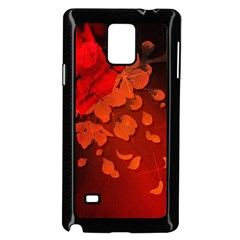 Cherry Blossom, Red Colors Samsung Galaxy Note 4 Case (black) by FantasyWorld7