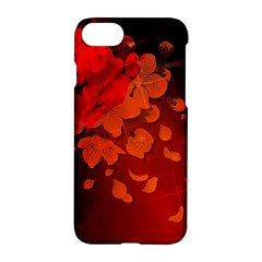 Cherry Blossom, Red Colors Apple Iphone 7 Hardshell Case by FantasyWorld7