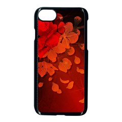Cherry Blossom, Red Colors Apple Iphone 7 Seamless Case (black) by FantasyWorld7