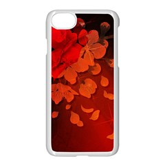 Cherry Blossom, Red Colors Apple Iphone 7 Seamless Case (white) by FantasyWorld7