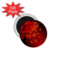 Cherry Blossom, Red Colors 1 75  Magnets (100 Pack)  by FantasyWorld7