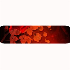 Cherry Blossom, Red Colors Large Bar Mats by FantasyWorld7