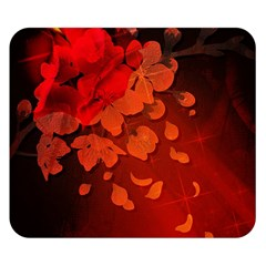 Cherry Blossom, Red Colors Double Sided Flano Blanket (small)  by FantasyWorld7