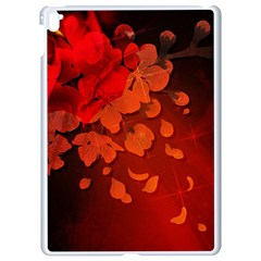 Cherry Blossom, Red Colors Apple Ipad Pro 9 7   White Seamless Case by FantasyWorld7