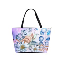 Snail And Waterlily, Watercolor Shoulder Handbags by FantasyWorld7