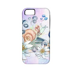 Snail And Waterlily, Watercolor Apple Iphone 5 Classic Hardshell Case (pc+silicone) by FantasyWorld7