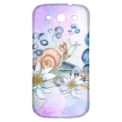 Snail And Waterlily, Watercolor Samsung Galaxy S3 S Iii Classic Hardshell Back Case by FantasyWorld7