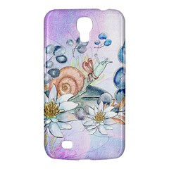 Snail And Waterlily, Watercolor Samsung Galaxy Mega 6 3  I9200 Hardshell Case by FantasyWorld7
