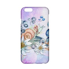 Snail And Waterlily, Watercolor Apple Iphone 6/6s Hardshell Case by FantasyWorld7