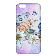 Snail And Waterlily, Watercolor Apple Iphone 6 Plus/6s Plus Hardshell Case by FantasyWorld7
