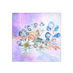 Snail And Waterlily, Watercolor Satin Bandana Scarf