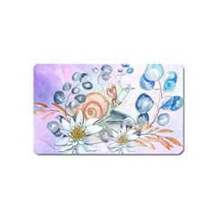 Snail And Waterlily, Watercolor Magnet (name Card) by FantasyWorld7